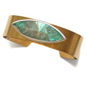 Armreif Gold 750 mit Aquamarin