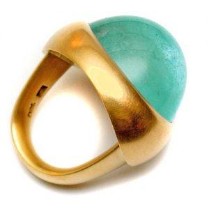 Ring 750 Gold mit Aquamarin