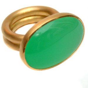 Ring 750 Gold mit Chrysopras
