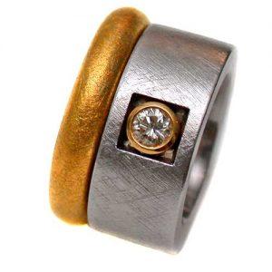 Ringpaar 750 Gold mit Brillant