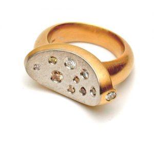 Ring 750 Gold mit Brillanten
