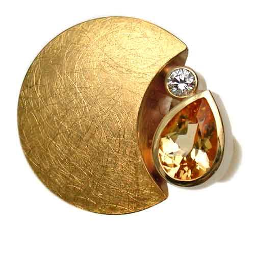 Ring 750 Gold mit Imperialtopas