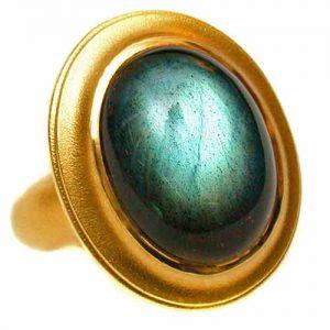 Ring 750 Gold mit Labradorith