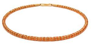 Collier aus Mandaringranat mit 750 Gold
