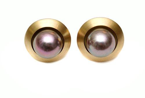 Ohrstecker Gold 750 und Tahitiperle
