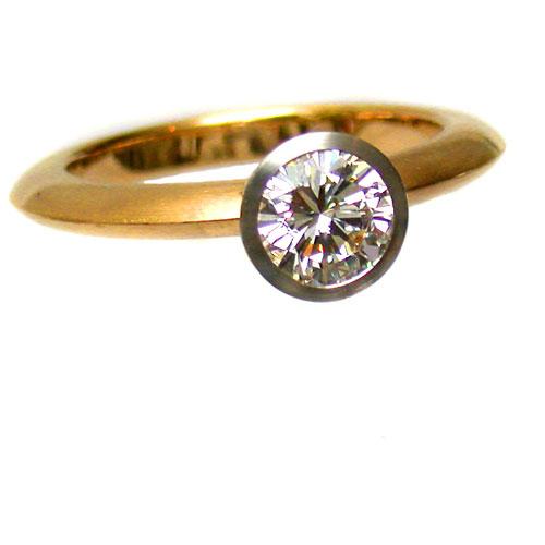 Ring 750 Gold mit Brillant 1,05 ct