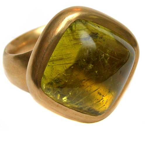 Ring 750 Gold mit Turmalin