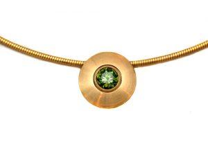 Collier 750 Gold mit Turmalin