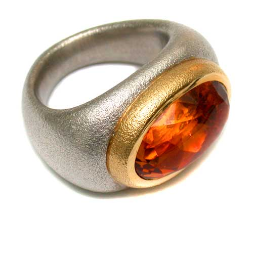 Ring 750 Gold mit Citrin
